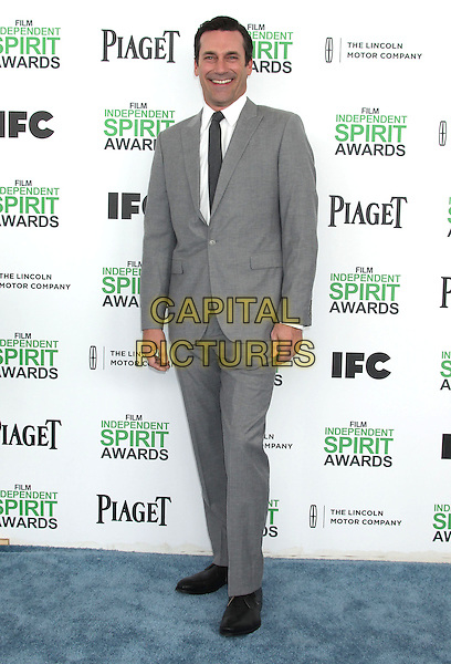 1 March 2014 - Santa Monica, California - Jon Hamm. 2014 Film Independent Spirit Awards held at Santa Monica Beach. <br /> CAP/ADM/RE<br /> &copy;Russ Elliot/AdMedia/Capital Pictures
