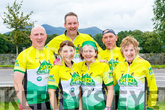 The Dingle Coast and Cliff Rescue team celebrate at the finish of the 54321 challenge in Killarney on Sunday l-r: Padraig O'Connor,Ann McCArthy, Cian Higgins, Caroline Danaher, Seamus Begley and Camila Browne