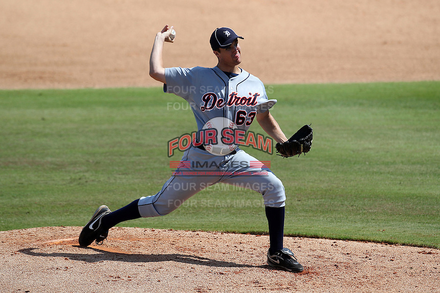 Detroit Tigers pitcher Brennan Smith #63 during an Instructional League game against the Philadelphia Phillies at Brighthouse Field on October 5, 2011 in Clearwater, Florida.  (Mike Janes/Four Seam Images)