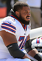 Buffalo Bills Chris Williams (74) during a game against the Chicago Bears on September 7, 2014 at Soldier Field in Chicago, IL. The Bills beat the Bears 23-20.