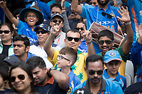 Two yellow and green fans amongst a sea of blue during India vs Australia, ICC World Cup Cricket at The Oval on 9th June 2019