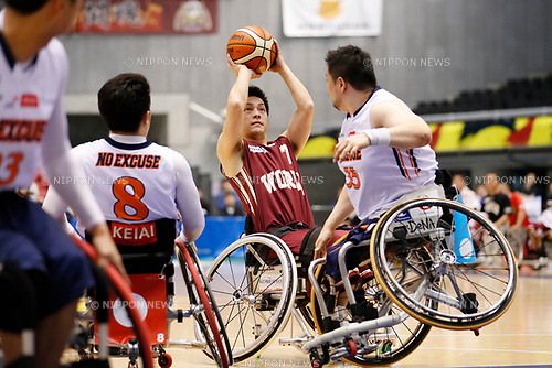 Atsushi Takeuchi (World), <br /> MAY 4, 2017 - Wheelchair Basketball : <br /> Japan Wheelchair Basketball Championship<br /> semi-final match between NO EXCUSE - World BBC<br /> at Tokyo Metropolitan Gymnasium in Tokyo, Japan. <br /> (Photo by Yohei Osada/AFLO SPORT)