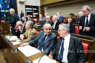 Genève, le 20.11.2008.Constituante. 1ère assemblée de la constituante dans la salle du grand conseil..© Le Courrier / J.-P. Di Silvestro