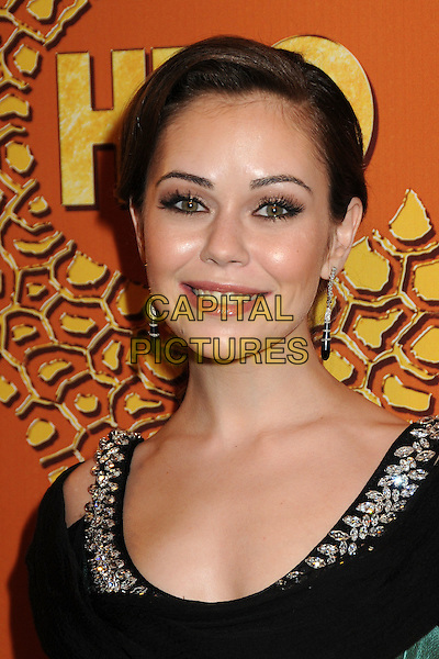 ALEXIS DZIENA.HBO's 2010 67th Golden Globe Awards Post Party held at the Beverly Hilton Hotel, Beverly Hills, California, USA..January 17th, 2009.globes headshot portrait dangling earrings black silver.CAP/ADM/BP.©Byron Purvis/Admedia/Capital Pictures