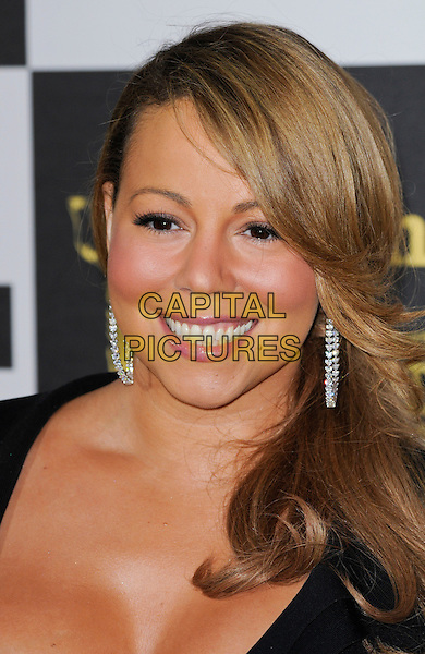 MARIAH CAREY.The 25th Annual Film Independent Spirit Awards at the LA Live Event Deck in Los Angeles, California, USA..March 5th, 2010  .headshot portrait black dangling silver earrings .CAP/ROT.©Lee Roth/Capital Pictures