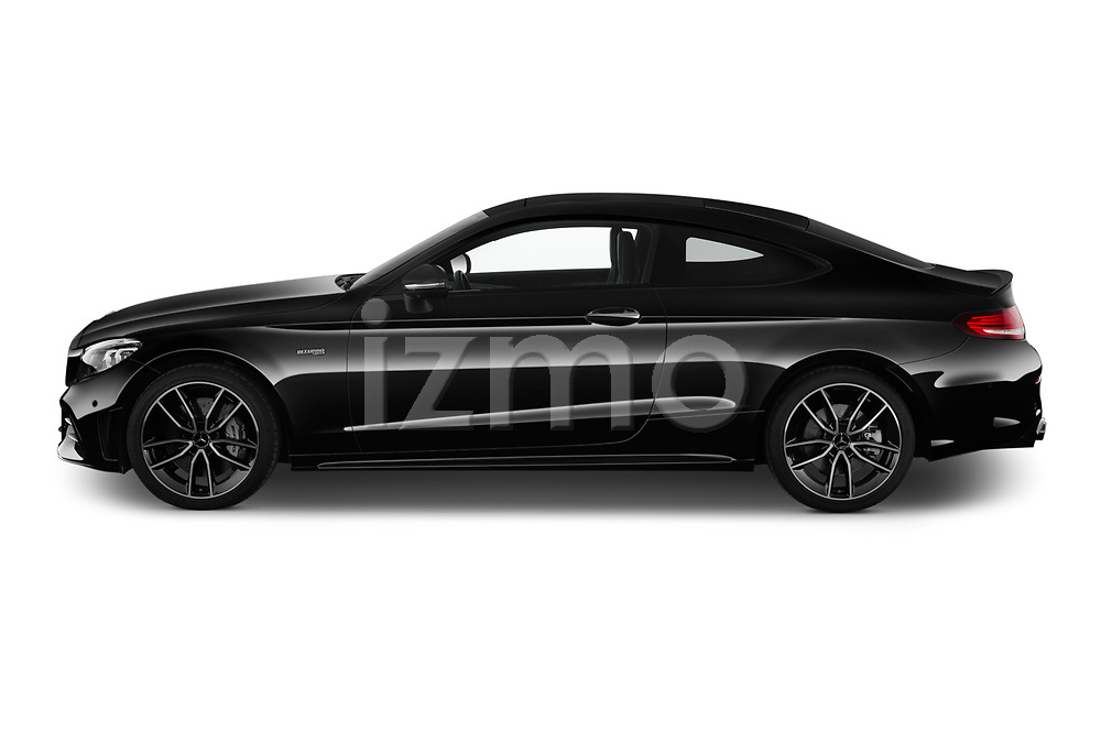 Car driver side profile view of a 2020 Mercedes Benz C class 43-AMG 2 Door Coupe
