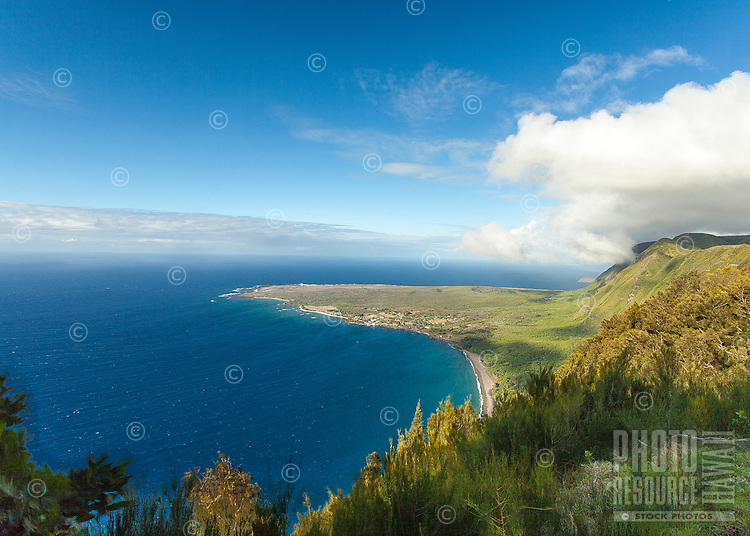 A view of Kalaupapa peninsula from Kalaupapa Lookout, Pala'au State Park, Moloka'i