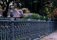 The famous CORNSTALK FENCE of COLONEL SHORT'S VILLA in the GARDEN DISTRICT of NEW ORLEANS