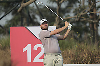 Casey O'Toole (USA) in action on the 12th during Round 2 of the Hero Indian Open at the DLF Golf and Country Club on Friday 9th March 2018.<br /> Picture:  Thos Caffrey / www.golffile.ie<br /> <br /> All photo usage must carry mandatory copyright credit (&copy; Golffile | Thos Caffrey)