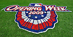 13 April 2009: Washington Nationals' grass logo of Opening Week welcomes fans prior to a game against the Philadelphia Phillies at the Nats' Home Opener at Nationals Park in Washington, DC. The Nats fell short in their 9th inning rally, losing 9-8, and marking their 7th consecutive loss of the 2009 season. Mandatory Credit: Ed Wolfstein Photo