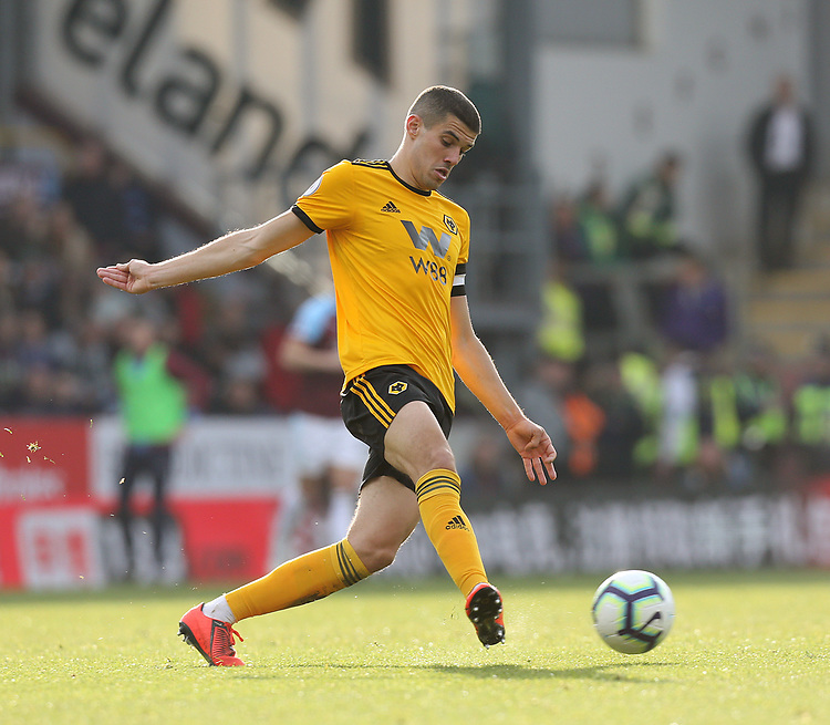 Wolverhampton Wanderers' Conor Coady<br /> <br /> Photographer Rich Linley/CameraSport<br /> <br /> The Premier League - Burnley v Wolverhampton Wanderers - Saturday 30th March 2019 - Turf Moor - Burnley<br /> <br /> World Copyright © 2019 CameraSport. All rights reserved. 43 Linden Ave. Countesthorpe. Leicester. England. LE8 5PG - Tel: +44 (0) 116 277 4147 - admin@camerasport.com - www.camerasport.com