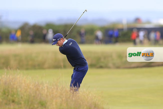 Webb SIMPSON (USA) in action during Sunday's Round 3 of the 144th Open Championship, St Andrews Old Course, St Andrews, Fife, Scotland. 19/07/2015.<br /> Picture Eoin Clarke, www.golffile.ie