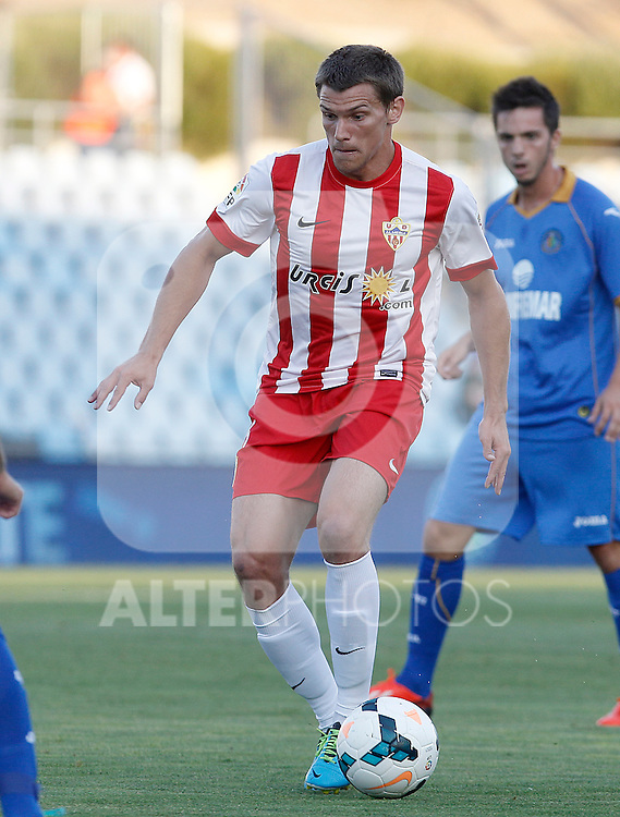 Almeria's Sebastian Dubarbier during La Liga match.August 23,2013. (ALTERPHOTOS/Acero)