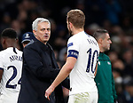 Tottenham's Jose Mourinho with Harry Kane during the UEFA Champions League match at the Tottenham Hotspur Stadium, London. Picture date: 26th November 2019. Picture credit should read: David Klein/Sportimage