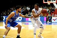 GRONINGEN - Basketbal, Donar - Landstede Zwolle , Martiniplaza,  halve finale beker, seizoen 2017-2018, 13-02-2018,  Donar speler Bradford Burgess met Landstede speler Franko House