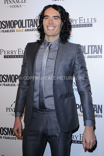 WWW.ACEPIXS.COM . . . . . .March 7, 2011...New York City... Russell Brand attends COSMOPOLITAN Fun Fearless Male Awards at the Mandarin Oriental Hotel Ballroom on March 7, 2011 in New York City....Please byline: KRISTIN CALLAHAN - ACEPIXS.COM.. . . . . . ..Ace Pictures, Inc: ..tel: (212) 243 8787 or (646) 769 0430..e-mail: info@acepixs.com..web: http://www.acepixs.com .