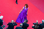 70eme Festival International du Film de Cannes. Montee de la ceremonie de cloture, vues du toit du Palais . 70th International Cannes Film Festival. Vew from rof top of closing red carpet<br /> Azema, Sabine