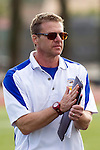 Torrance, CA 05/09/13 - Agoura coach Rob Fiance at the start of the Los Angeles Girls Varsity lacrosse Championship game against Oak Park. in action during the 2013 Los Angeles area Girls Varsity Lacrosse Championship.  Agoura defeated Oak Park 13-7.