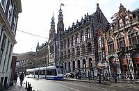 Nederland Amsterdam  - december 2017. Winkelcentrum Magna Plaza . Voormalig Hoofdpostkantoor. Foto Berlinda van Dam / Hollandse Hoogte