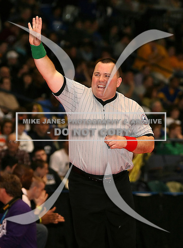 Certified official during the NY State Wrestling Championships at Blue Cross Arena on March 8, 2008 in Rochester, New York.  (Copyright Mike Janes Photography)