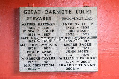 Barmote Court. Moot Hall Wirksworth Derbyshire.