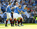 30/05/2009  Copyright  Pic : James Stewart.sct_jspa_10_rangers_v_falkirk.NACHO NOVO CELEBRATES AFTER SCORING THE ONLY GOAL OF THE GAME.James Stewart Photography 19 Carronlea Drive, Falkirk. FK2 8DN      Vat Reg No. 607 6932 25.Telephone      : +44 (0)1324 570291 .Mobile              : +44 (0)7721 416997.E-mail  :  jim@jspa.co.uk.If you require further information then contact Jim Stewart on any of the numbers above.........