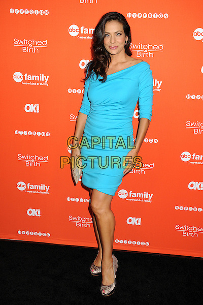 "Constance Zimmer.ABC Family's ""Switched at Birth"" Fall Premiere held at The Redbury Hotel, Hollywood, California, USA..September 13th, 2012.full length blue turquoise dress  .CAP/ADM/BP.©Byron Purvis/AdMedia/Capital Pictures."