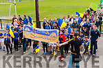 St Senan's GAA club taking part inthe La na gClub parade out of Listowel  Emmetts grounds on Sunday Last.