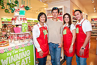 Tim Ong, Winner of Bath & Body Works, celebrates the release of his candle at the Houston Galleria location