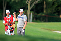 Keegan Bradley (USA) on the 2nd fairway during the 3rd round of the WGC HSBC Champions, Sheshan Golf Club, Shanghai, China. 02/11/2019.<br /> Picture Fran Caffrey / Golffile.ie<br /> <br /> All photo usage must carry mandatory copyright credit (© Golffile | Fran Caffrey)