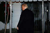 United States President Donald J. Trump enters the White House upon his return to Washington from Florida on December 7, 2019. <br /> Credit: Yuri Gripas / Pool via CNP