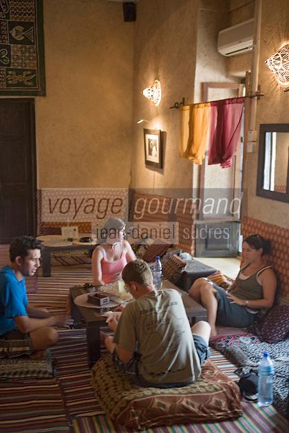 Afrique/Afrique de l'Est/Tanzanie/Zanzibar/Ile Unguja/Stone Town: Au restaurant Monsoon la salle mauresque