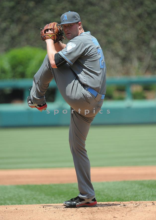 Arizona Diamondbacks Archie Bradley (25) during a game against the Philadelphia Phillies on June 19, 2016 at Citizens Bank Park in Philadelphia, PA. The Diamondbacks beat the Phillies 3-1.