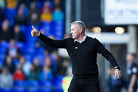 Paul Lambert, Manager of Ipswich Town gives his new charges the thumbs up during Ipswich Town vs Preston North End, Sky Bet EFL Championship Football at Portman Road on 3rd November 2018