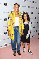 LOS ANGELES - AUG 12: Goapele, daughter Haifa at the 5th Annual BeautyCon Festival Los Angeles at the Convention Center on August 12, 2017 in Los Angeles, California