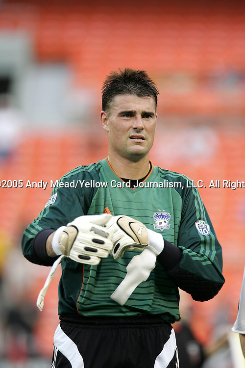 15 July 2005: Earthquakes goalkeeper Pat Onstad. DC United defeated the San Jose Earthquakes 3-0 at RFK Stadium in Washington, DC in a regular season Major League Soccer game. .