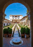 Spanien, Andalusien, Granada: Generalife, Patio de la Acequia | Spain, Andalusia, Granada: Generalife, Patio de la Acequia
