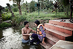 INDIA, KERALA JUNE 2014:Gargi Nepal,  from Nepal one of Kanthari student learning how to swim for the first time in her life, Kerala June 2014 @Giulio Di Sturco