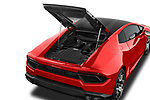 Car Stock 2017 Lamborghini Huracan 580 2 Door Coupe Engine  high angle detail view