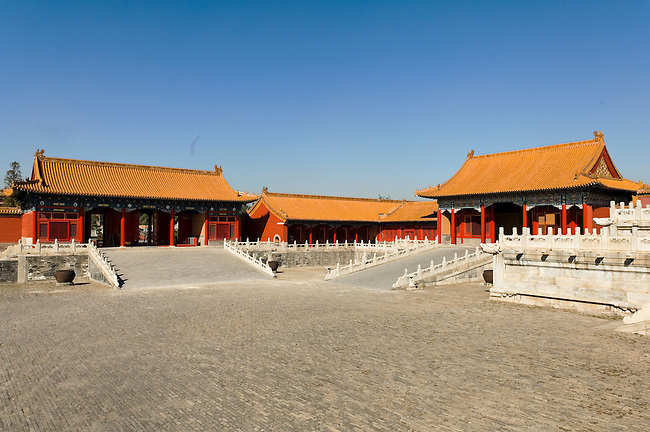 Courtyard in front of Hall of Supreme Harmony, Beijing, China