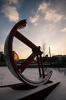 Walk from Mitte through to Treptow along the Spree one very cold winters afternoon.<br /> Old ice factory