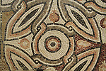 A mosaic floor from a Synagogue in Beth Shean, 6th century AD, at the Hecht Museum, the University of Haifa
