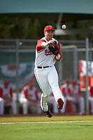 Ohio State Buckeyes third baseman Brady Cherry (1) during a game against the Illinois State Redbirds on March 5, 2016 at North Charlotte Regional Park in Port Charlotte, Florida.  Illinois State defeated Ohio State 5-4.  (Mike Janes/Four Seam Images)