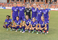 Houston, TX - Saturday Sept. 03, 2016: Orlando Pride Starting XI prior to a regular season National Women's Soccer League (NWSL) match between the Houston Dash and the Orlando Pride at BBVA Compass Stadium.
