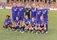 Houston, TX - Saturday Sept. 03, 2016: Orlando Pride Starting XI prior to a regular season National Women's Soccer League (NWSL) match between the Houston Dash and the Orlando Pride at BBVA Compass Stadium.
