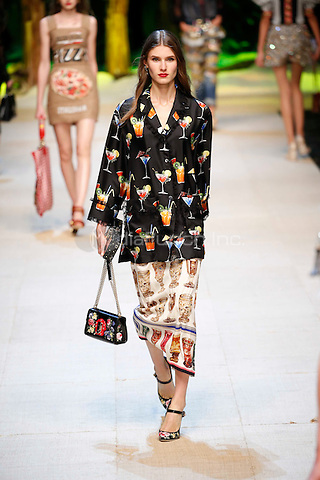 DOLCE &amp; GABBANA<br /> Milan Fashion Week  ss17<br /> on September 25, 2016<br /> CAP/GOL<br /> &copy;GOL/Capital Pictures /MediaPunch ***NORTH AND SOUTH AMERICAS ONLY***