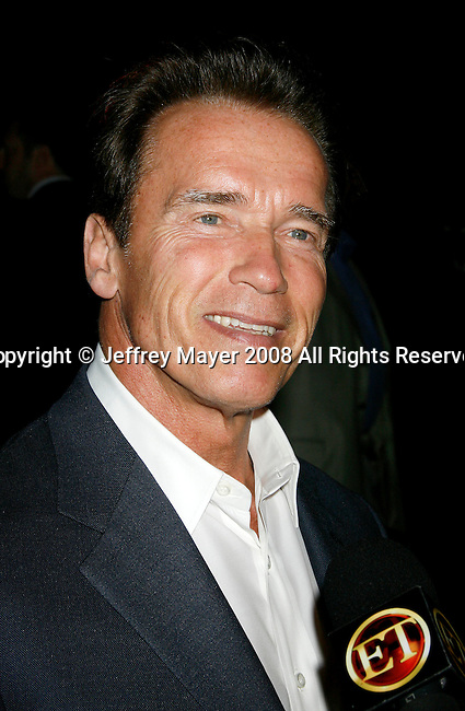 "UNIVERSAL CITY, CA. - August 14: Governor of California Arnold Schwarzenegger attends a ""Green"" Gala hosted by Governor Arnold Schwarzenegger at Universal Studios on August 14, 2008 in Universal City, California."