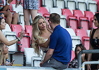 Bianca Gascoigne during the 'Greatest Show on Turf' Celebrity Event - Once in a Blue Moon Events at the London Borough of Barking and Dagenham Stadium, London, England on 8 May 2016. Photo by Andy Rowland.