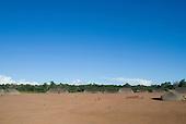 Xingu Indigenous Park, Mato Grosso State, Brazil. Aldeia Waura. Village of traditional oca houses.
