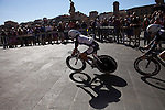 USI World Championship 2013 men's cycling race passes through the city streets of Florence Tuscany